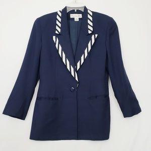 Vintage Christian Dior Blazer Navy Blue Size 6